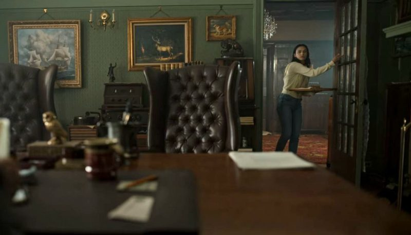 Leonard's Study in Dangerous Lies House Camila Mendes