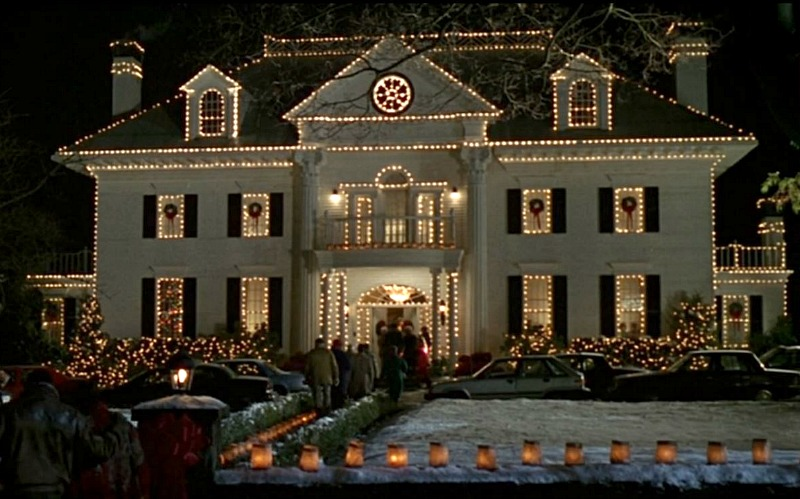 Parrish House from Jumanji 1995 movie at Christmas