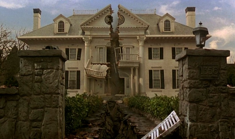 Parrish House from Jumanji 1995 split in two