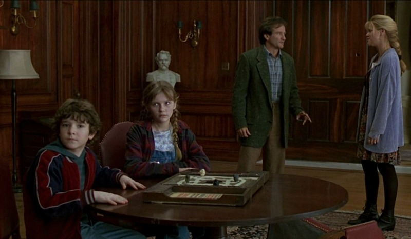 Robin Williams Kirsten Dunst Jumanji house library