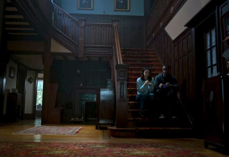 Staircase in Dangerous Lies House