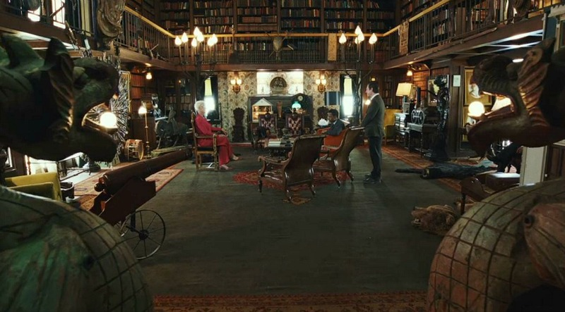 Ames Mansion Library in Knives Out movie