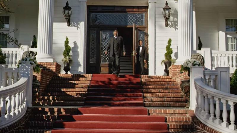 Bishop James Greenleaf in front of Mansion
