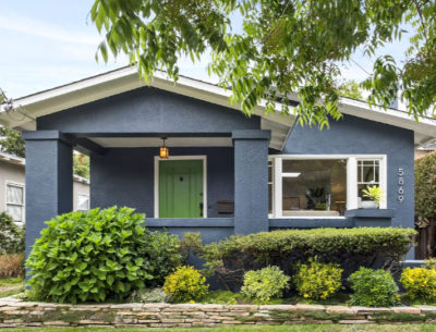 Blue Craftsman Style House Oakland CA