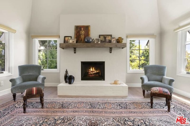 Chris Meloni house for sale MBR fireplace