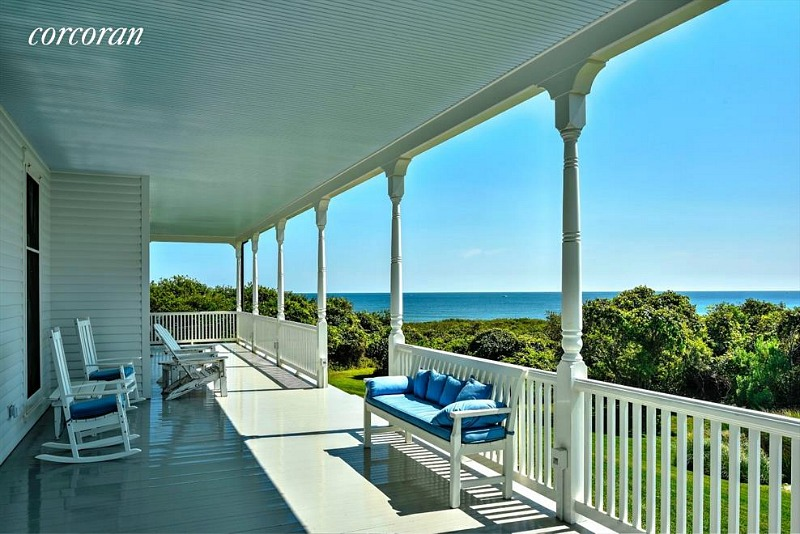 Dick Cavett Montauk house front porch ocean view