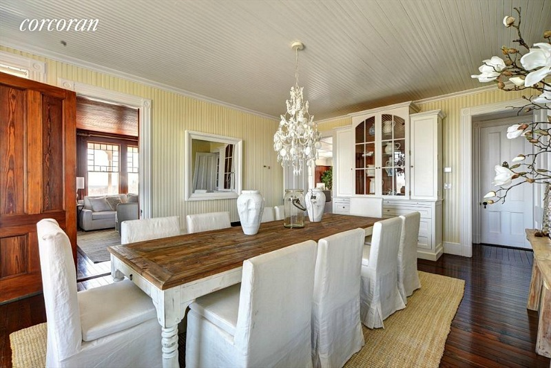 Dick Cavett oceanfront house Montauk dining room