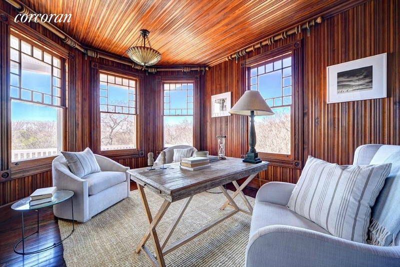 Dick Cavett's beachfront home study
