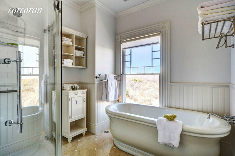 Dick Cavett's oceanfront home bathroom