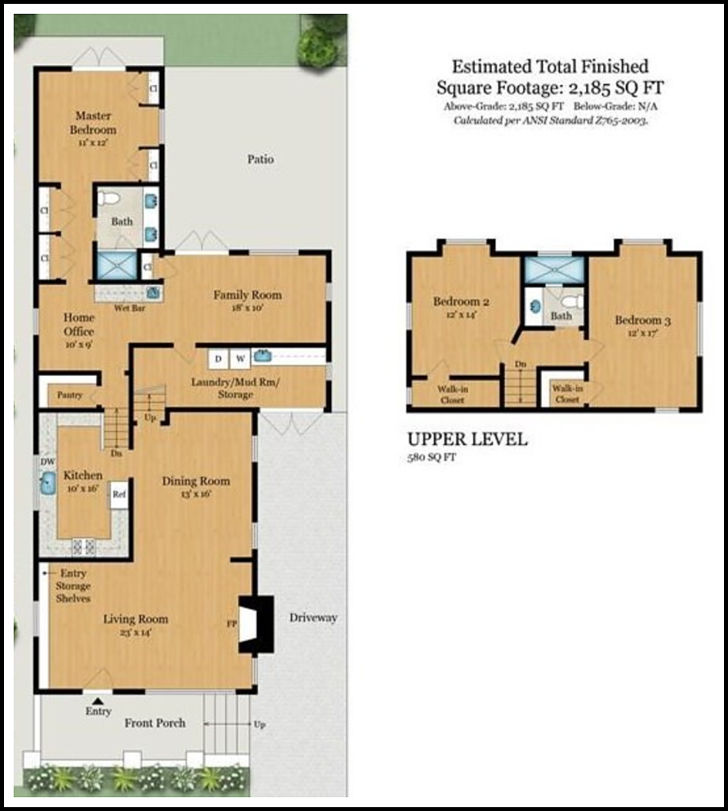 Floorplan brochure 5869 Chabot for sale