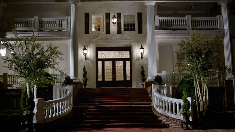 Greenleaf house filming location exterior at night