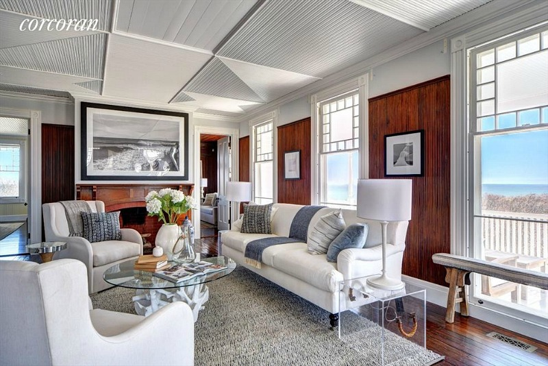 Montauk beach house living room