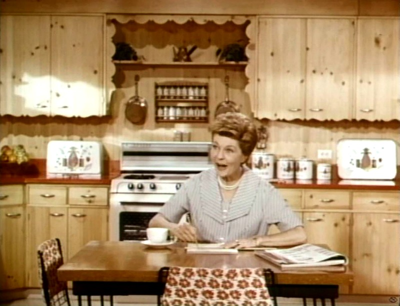 Ozzie and Harriet Show kitchen set in color