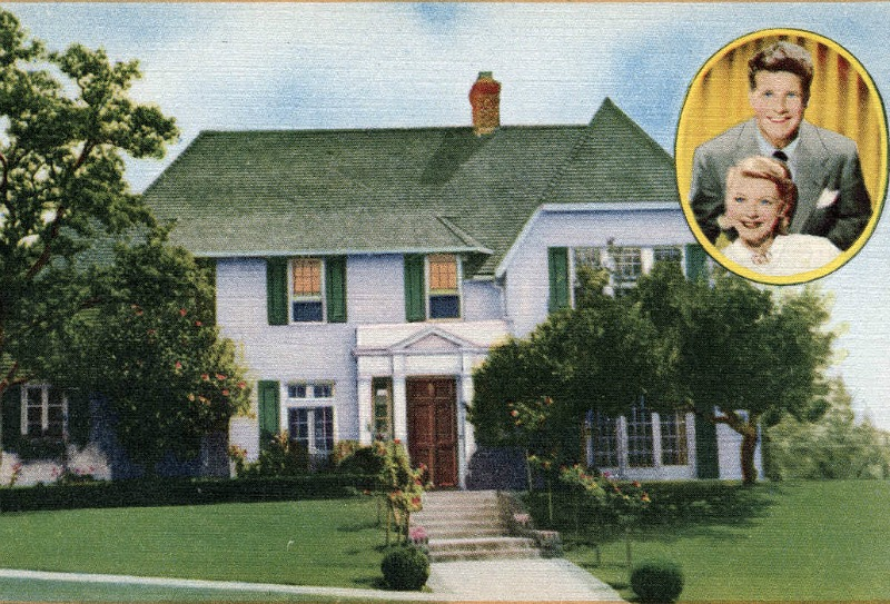 Vintage Postcard of Ozzie and Harriet Nelson's House