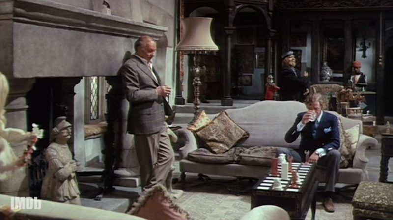 screenshot of actors from movie Sleuth