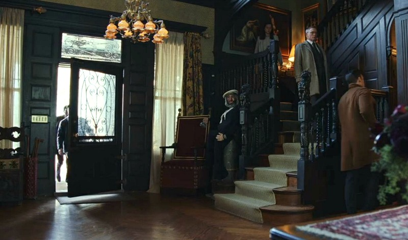 Thrombey Mansion Entry Hall Knives Out Movie