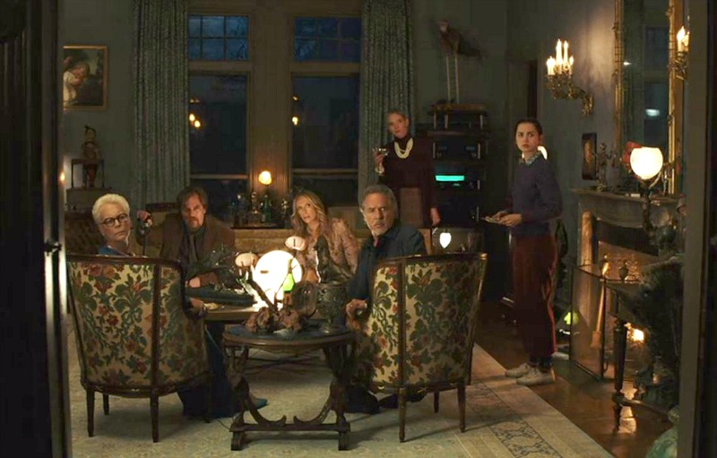 Thrombey Mansion parlor in Knives Out movie