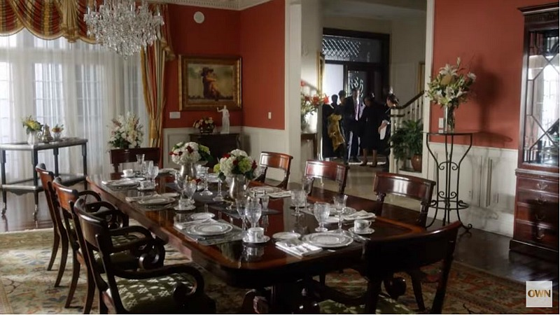 mansion formal dining room and entry