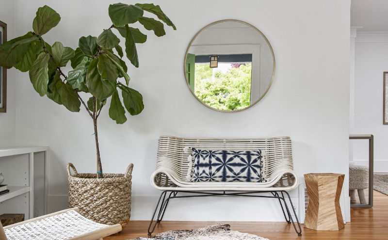 round mirror entry hall
