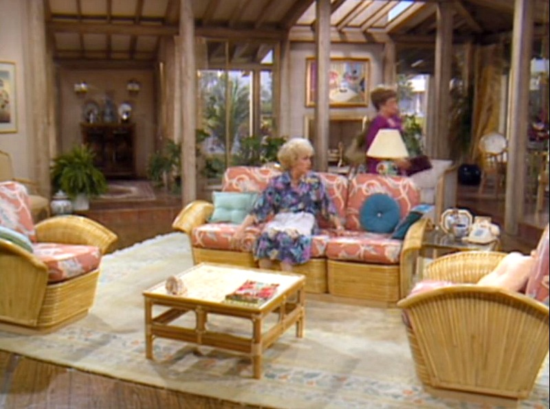 Living Room with Vaulted Ceiling Golden Girls