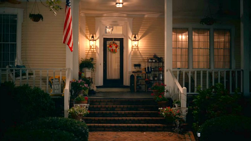 Maddie's house front porch