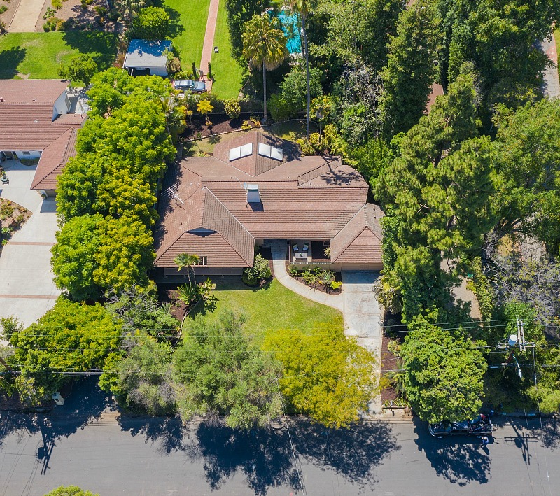 aerial view Golden Girls TV show house Brentwood