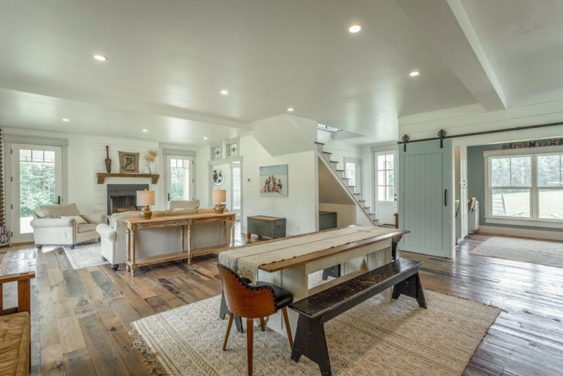 open concept dining and family room farmhouse