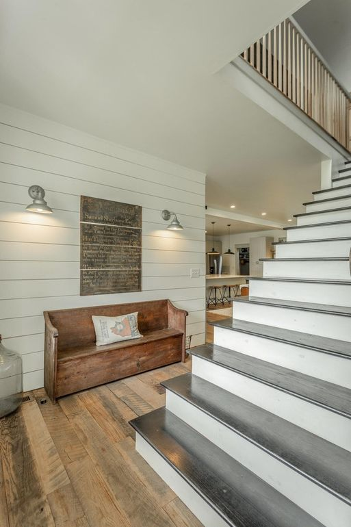 staircase in modern farmhouse
