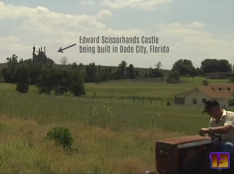 Edward Scissorhands Castle Being Built Dade City