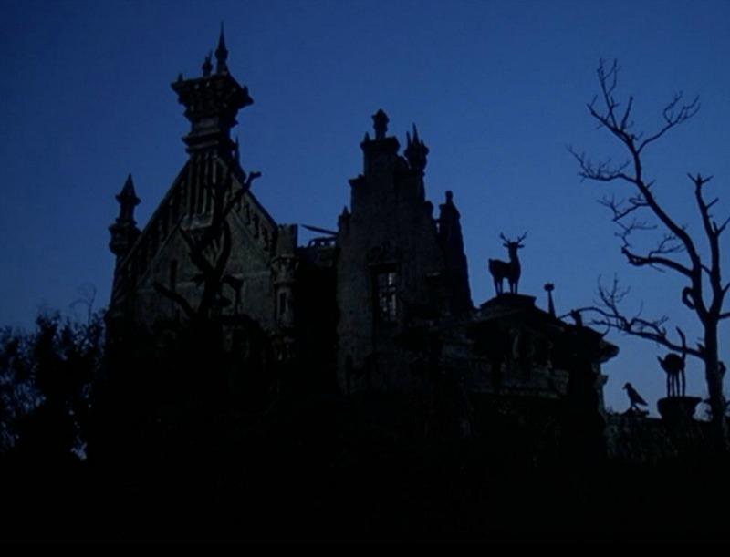 Edward Scissorhands castle at night