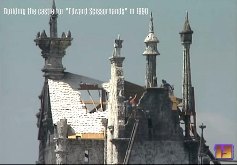 building the castle for Edward Scissorhands