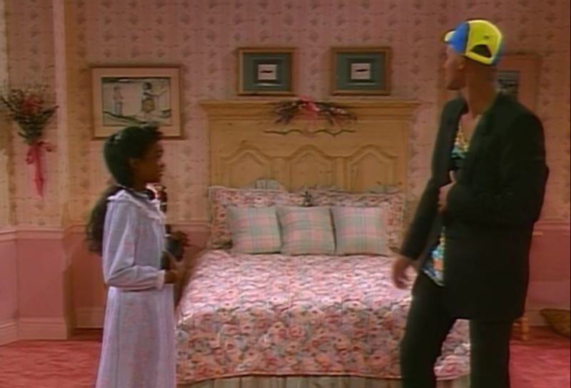 Ashley's pink bedroom in Fresh Prince