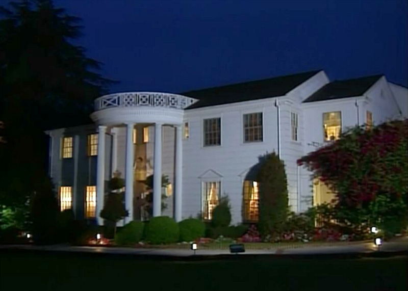 Banks house in Bel-Air on Fresh Prince at night
