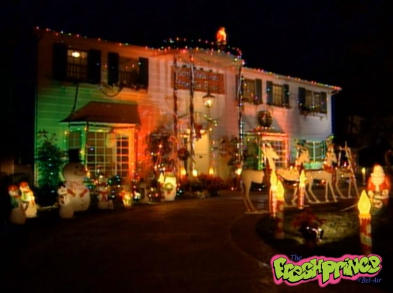 Fresh Prince of Bel-Air mansion decorated Christmas