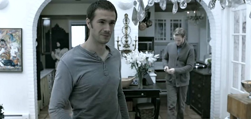 James D'Arcy in the cottage kitchen In Their Skin