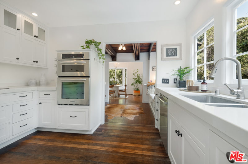 Singer Charli XCX Tudor House For Sale white kitchen