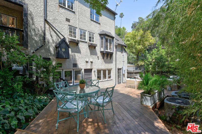 Singer Charli XCX Tudor House For Sale outdoor deck