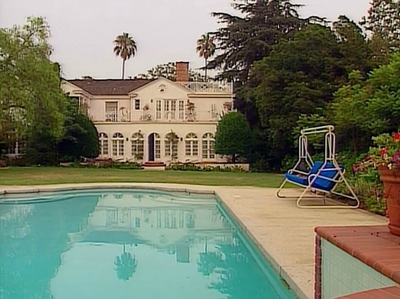 back of house and pool in fresh prince