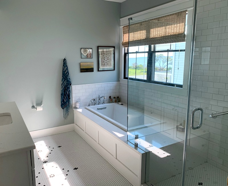 bathroom with view of chesapeake bay