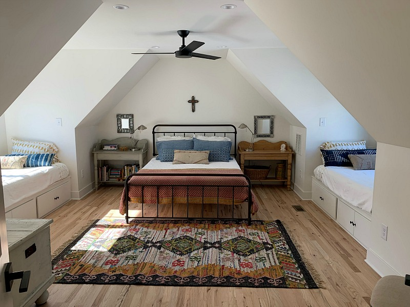 bunk room upstairs in remodeled house