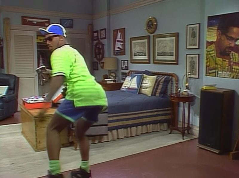 dancing around his new room in fresh prince