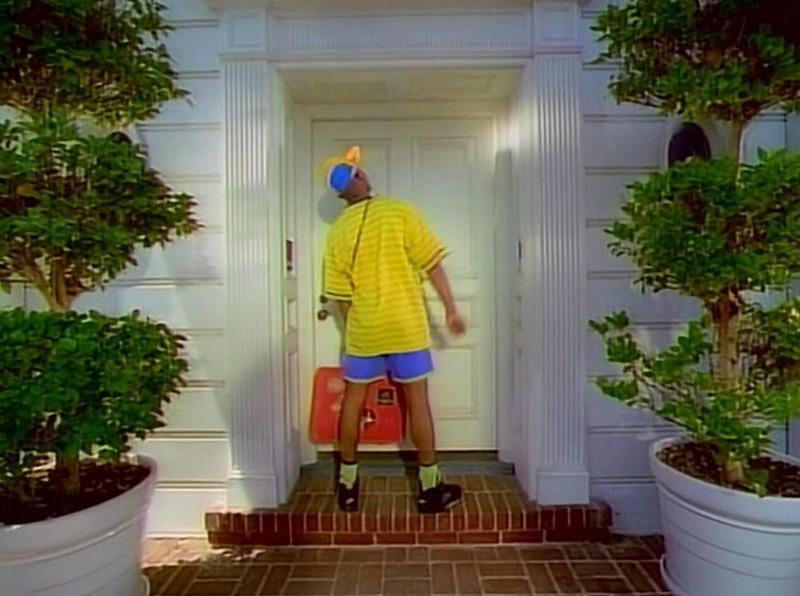 front door of fresh prince house