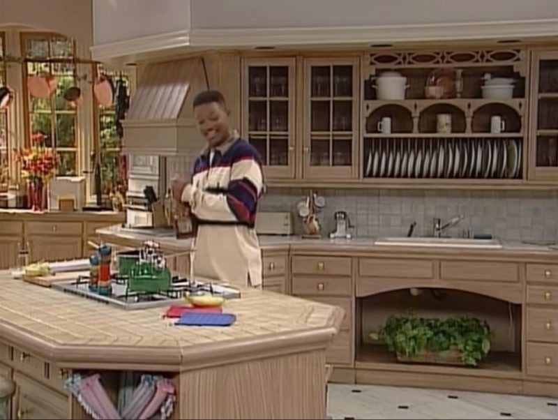 """Will Smith in kitchen on \""""Fresh Prince\"""" sitcom"""