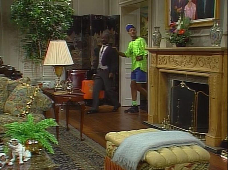 living room fireplace in fresh prince pilot