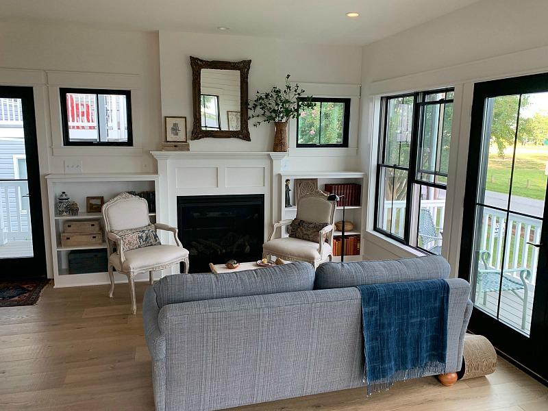 modern cottage style living room