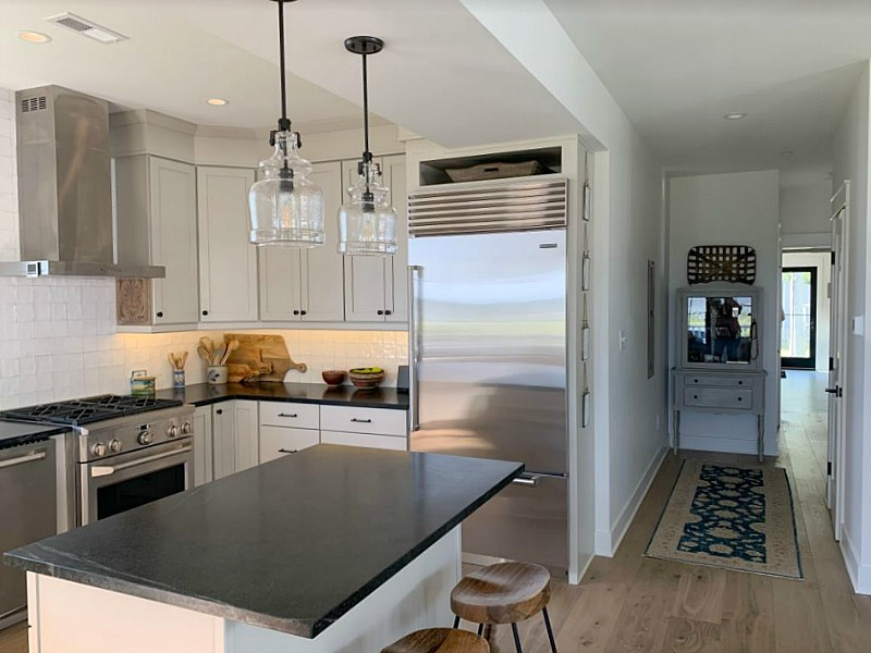 newly remodeled kitchen in modern cottage