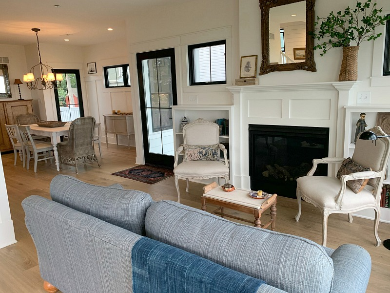 newly remodeled living and dining rooms
