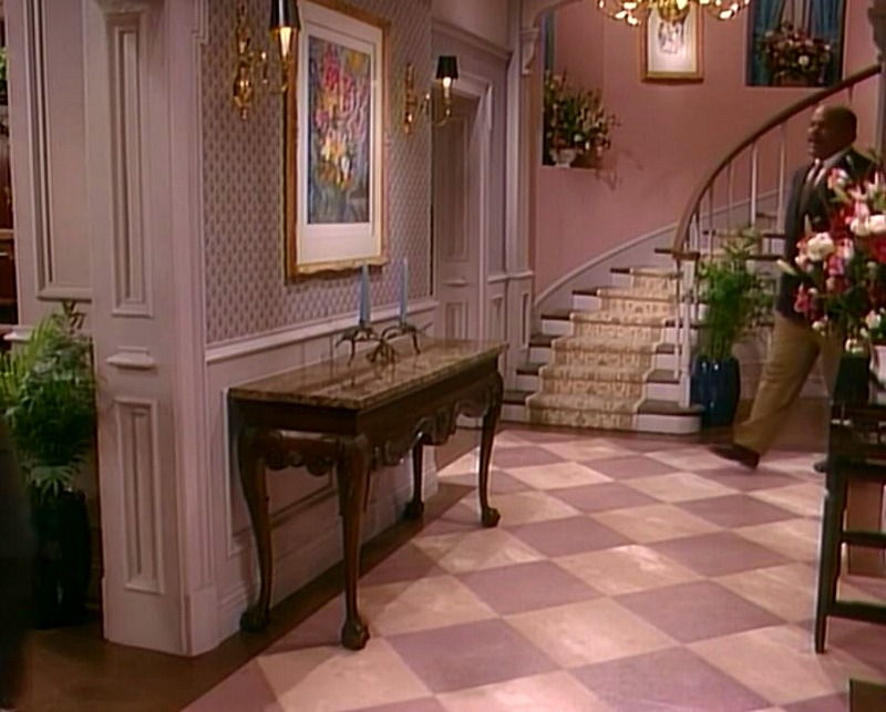 pink entry hall fresh prince of bel air house
