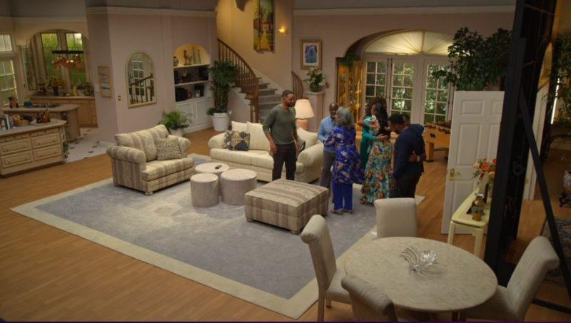 the recreated set for Fresh Prince of Bel-Air Reunion HBO Max
