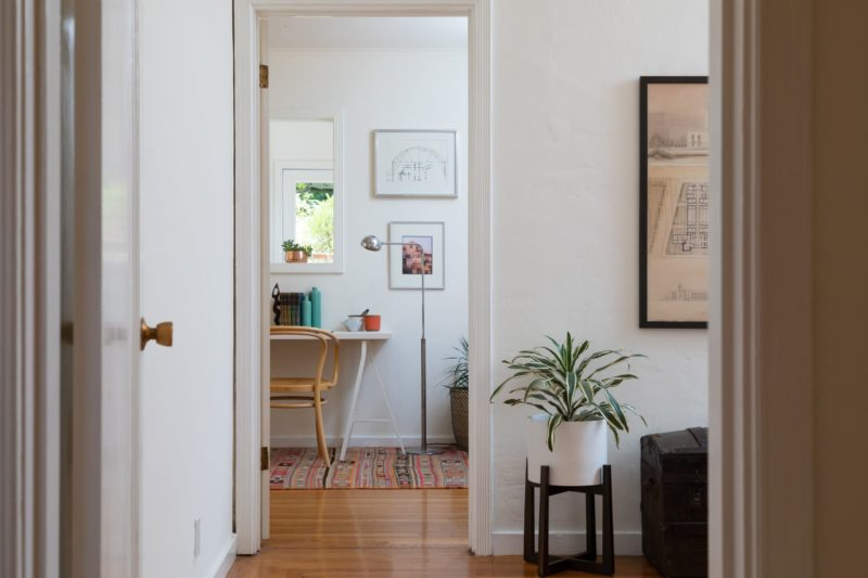 doorway leading to home office and desk